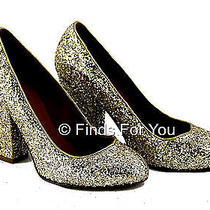 J Crew Madewell 1937 Frankie Gold Glitter Pump Size 6.5 M Style 29483 218 Photo
