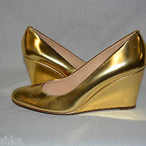 J Crew Martina Metallic Wedge Size 9.5 Metallic Blush Photo