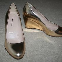 J.crew Martina Metallic Wedges Size 65m Metallic Blush Photo