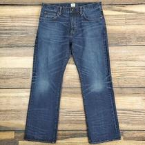 J.crew Men's 34x32 Vintage Bootcut Jeans Blue Denim Photo