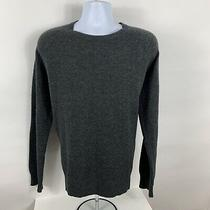 J. Crew Mens Size Xl Sweater 100% Lambs Wool Pullover L/s Gray Crew Neck Casual Photo