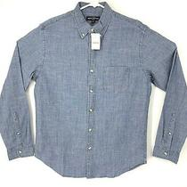 J Crew Mercantile Flex Mens Button Front Denim Shirt Blue Medium Nwt Photo