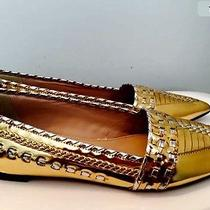 J Crew Metallic Whipstitched  Smith Loafer Size 7 New Photo