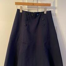 J. Crew Navy Blue Flare Skirt Knee-Length Size 6 Never Worn Photo