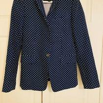 J Crew Navy Polka Dot Regent Blazer Excellent Condition Size 2. Fully Lined Photo
