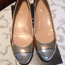 J.crew New Janey Metallic Cap Toe Flat in Metallic Blush 10 M Made in Italy Photo