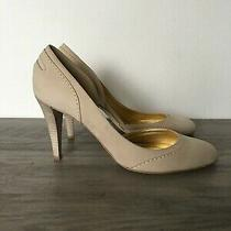 J.crew Nwob Womens Pumps Heels Shoes Leather Tan Size 8 1/2 Made in Italy Photo