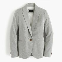 J.crew Nwt 178 Campbell Cotton Lined Blazer Jacket Top in Skinny Stripe Size 0 Photo