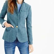 J.crew Nwt 228 Classic Campbell 100% Wool Blazer Jacket Top Herringbone Size 6 Photo