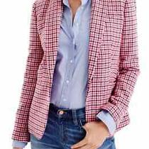 J.crew Nwt 228 Classic Campbell Wool Blazer Jacket Top in Houndstooth Size 6 Photo