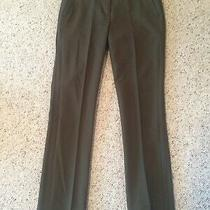 J Crew Olive Campbell Trouser  00 Two Way Stretch Wool E0932 Dress Pants Mint Photo