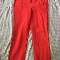 J.crew Orange Campbell Capri Pant in Stretch Cotton Size 4 Style A0072 Photo