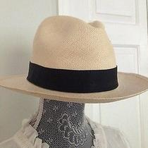 J Crew Panama Hat Retail 58 Size M-L Natural Nwt 23793 Women's Photo