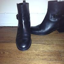J.crew Parker Ankle Boots Black Leather Size 9 Worn Once-Like New 278 Photo