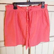 J.crew Peach Coral Tie Pleated Mini Skirt Small S Buttoned Photo