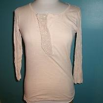 J. Crew Peachy-Blush Top With Lace and Sequins Small Euc  Photo