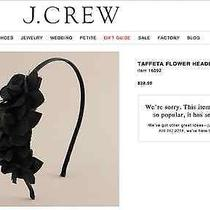 J Crew Pink Taffeta Flower Headband Photo