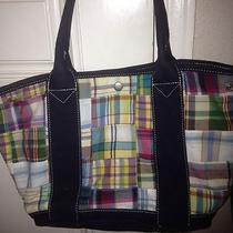 J Crew Plaid Purse Perfect for Summer at the Beach.  Photo