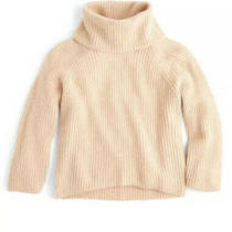 J Crew Point Sur Ribbed Chunky Turtleneck Sweater Blush Pink S Small Jcrew Photo