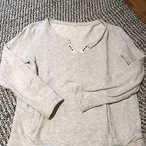J Crew Pullover Sweatshirt Heather Gray Womens Size Large Photo