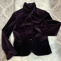 J. Crew Purple 100% Cotton Eden Velvet Lined Blazer Jacket Size 8 Style 85794 Photo