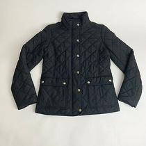 J Crew Quilted Black Jacket Size Xs Photo