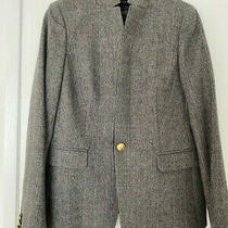 J.crew Regent Women Wool Gray Check Blazer - Size 8 Photo