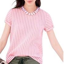 J. Crew Shadow Stripe Size 8 Top Blouse Blush Pink Career Short Sleeve Shirt 98 Photo
