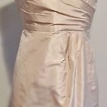 J Crew Silk Taffeta Selma Dress Petite 12 Champagne Photo