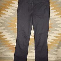 J Crew Size 0 Black Campbell Cotton Blend Pants Photo