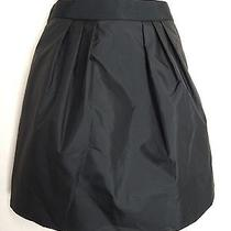 J.crew Size 00 Black Taffeta Marvelle Mini Skirt Photo