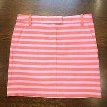 J Crew Size 00 Orange/pink Postcard Mini in Textured Stripe Skirt 45847 (88) Photo