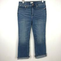 J. Crew Size 28 Billie Demi Boot Crop Blue Jean Hudson Wash Stretchy Casual  Photo