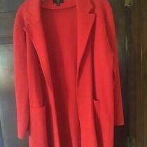 J Crew Sophie Open Front Blazer Red Size Xl Photo