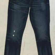 J. Crew Stretch Womens Straight Leg Distressed Jeans Size 28 Exc Photo