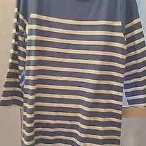 J.crew Striped Blue Cotton Dress Photo