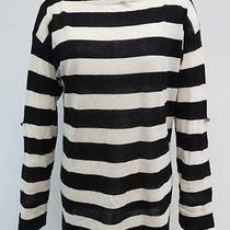 J.crew Striped Sailor Sweater Ivory and Black Size Medium Gently Worn Photo