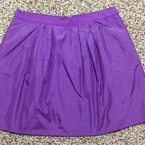 J.crew Taffeta Marvelle Mini Skirt Size 6 Purple Photo