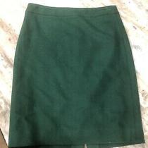 J. Crew the Pencil Skirt Green Liner Back Slit Womens Size 0 Photo