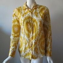 J Crew the Perfect Shirt Yellow Hobo Lightweight Button Up Slim Shirt Top 4 Photo