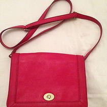 J Crew Tillary Bag Purse Clutch Red Leather Like Celine Trio Perfect Condition Photo