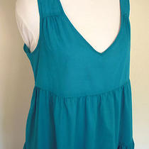J. Crew Vivid Aqua Blue Tiered Sundress Swim Coverup Misses S 6 8 Photo