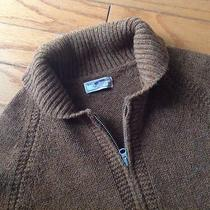 J Crew Wallace & Barnes Wool Shetland Sweater Cardigan M New Heather Cognac   Photo