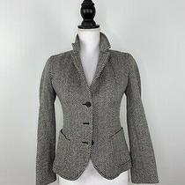 J. Crew Women Jacket Coat Blazer Wool Chevron Pattern - Size Xs Photo