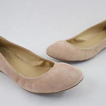 J.crew Women's Blush Stone Suede Ballet Flats Shoes Size 8.5 Photo