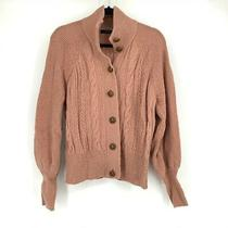 J.crew Women's Cardigan Sweater Balloon Sleeve Cable Knit Vintage Cardigan Blush Photo
