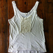 J.crew Women's Ivory Raw Edge Tank With White Sequins-Large-Retails 95 Photo