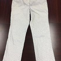 J.crew Womens Pants Size 4 Campbell White With Small Black Triangles Stretch Photo