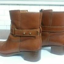 J Crew Women's Parker Ankle Boots in Chester Brown Rider Leather Buckle Size 8 Photo