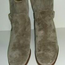 J.crew Women's  Parker Shearling Lined Suede Gray Ankle Boots Size 9   Excellent Photo